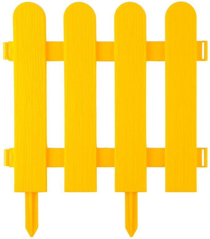 Картинка с желтым забором